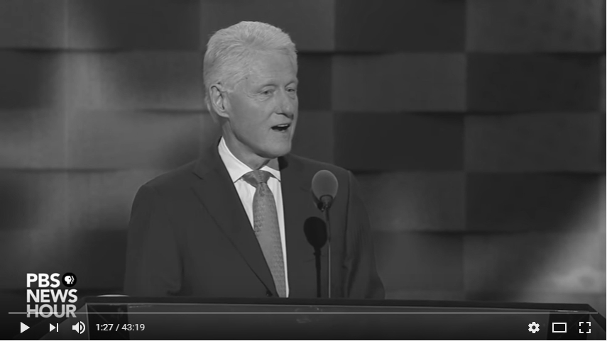2016 Democratic National Convention - Bill Clinton_bw