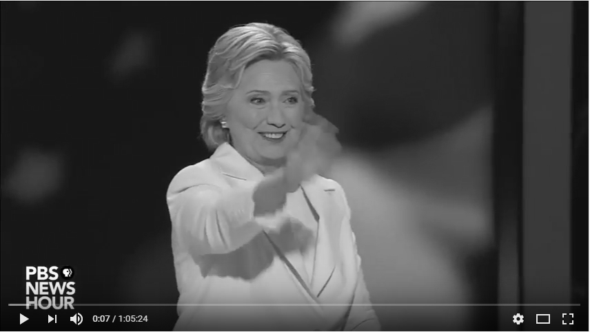 2016 Democratic National Convention - Hillary Clinton_bw