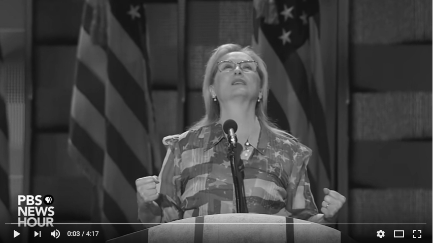 2016 Democratic National Convention - Meryl Streep_bw