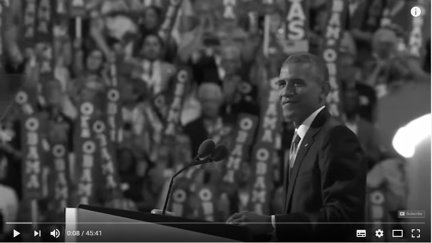 2016 Democratic National Convention - President Obama_bw
