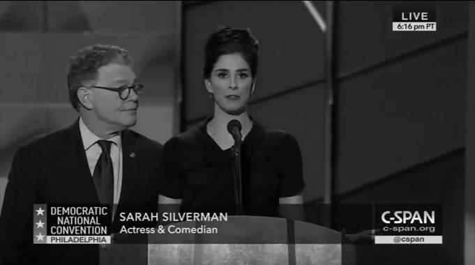 Sarah Silverman Democratic National Convention FULL Speech 2016-07-25 DNC Philadelphia_bw