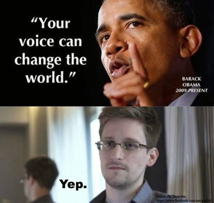 Your voice can change the world - Schutz für Snowden