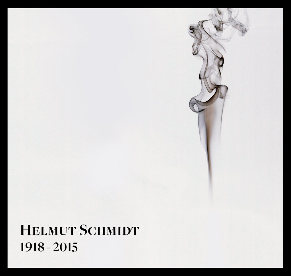 Süddeutsche Magazin - RIP Helmut Schmidt